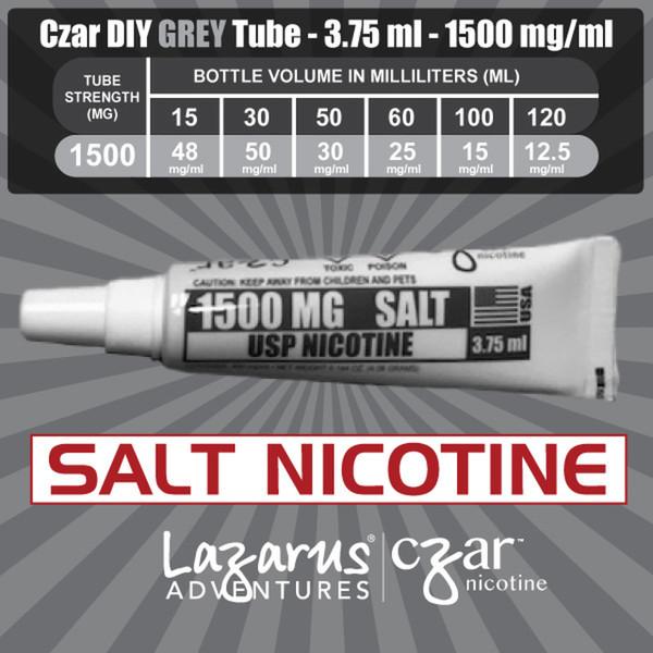 cZar 1500 Gray - 1 Single Use Nicotine Tube