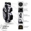Graphite Flower Golf Bag