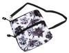 Graphite Flower  2 Zip Carry All Bag
