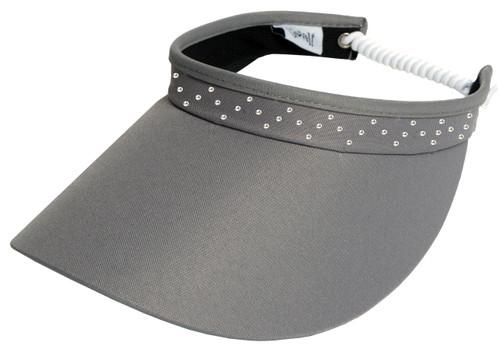 Grey Bling Coil Visor