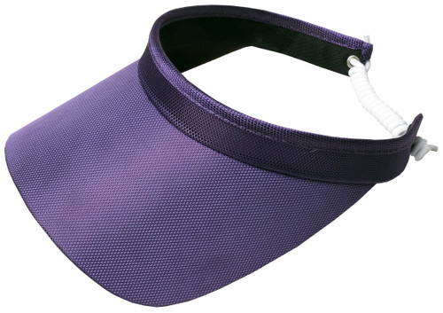 Purple Solid Coil Visor