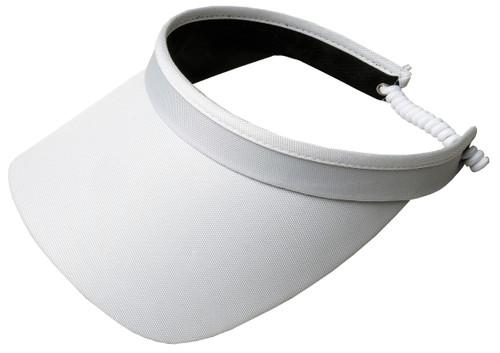 White Solid Coil Visor