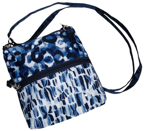 Blue Leopard 2 Zip Carry All Bag