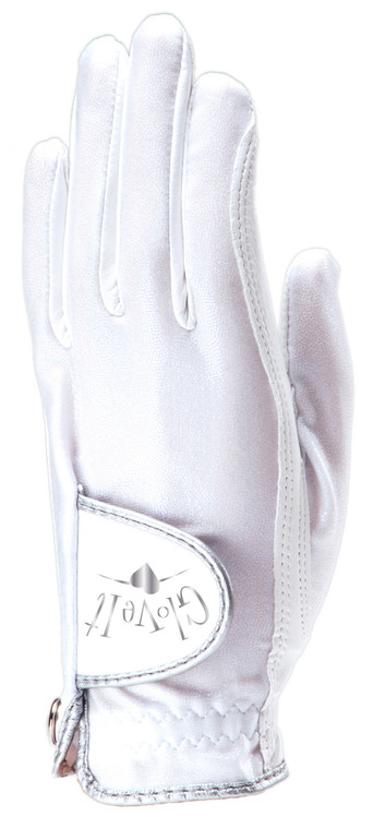 White Clear Dot Golf Glove