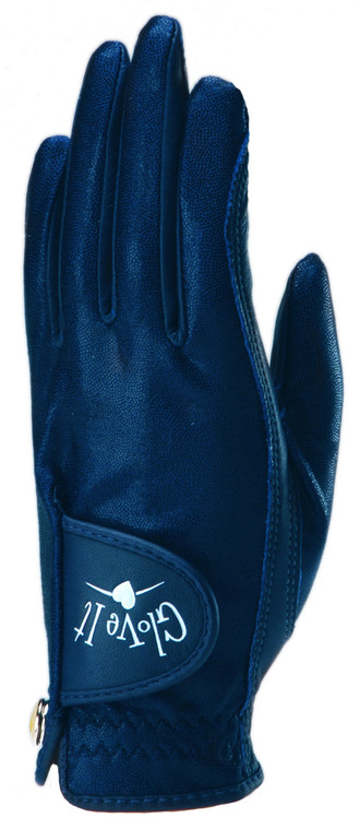 Navy Clear Dot Golf Glove
