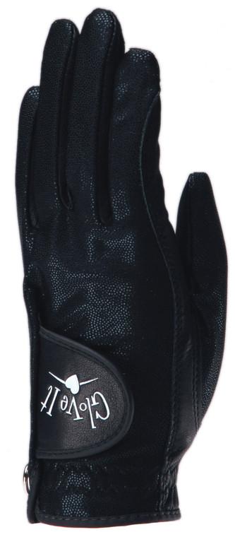 Black Clear Dot Golf Glove