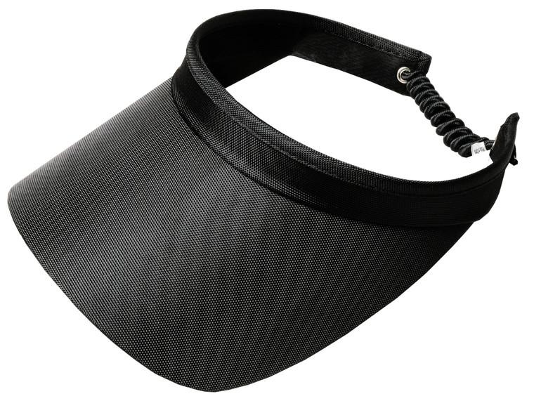 Black Solid Coil Visor