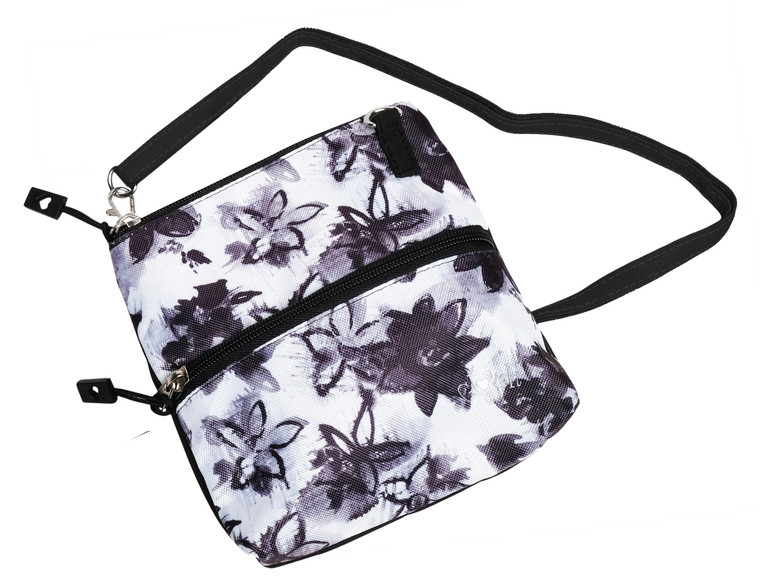 Graphite Flower  2 Zip Carry All Bag