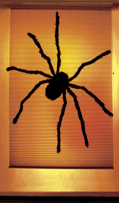 Black Widow Halloween Window Poster Decoration