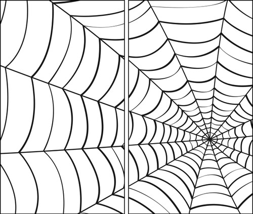 Spider Web 2 part Halloween Window Poster Decorations