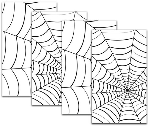 2 two packs of double window spider web Halloween Window Poster Decorations