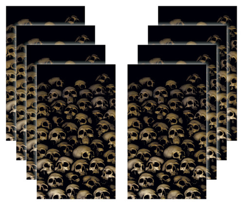 House of the Crypt 8 skull Halloween Window Poster Decorations
