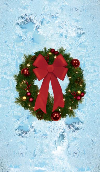 Christmas Wreath Poster - Decorative Christmas Window Poster