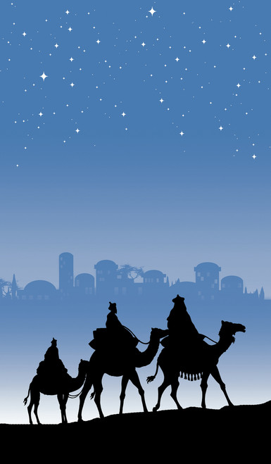Christmas Magi Silhouette Poster -  Decorative Christmas Window Poster