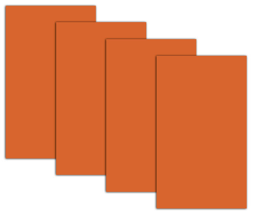 4 sheets of Halloween Orange Window coverings