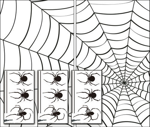 Make A Scene Spiders and Web Halloween Window Poster Decorations with 3 sheets of Spider Stickers
