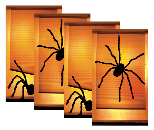 House Full of Shady Spiders 4 pack of Halloween Window Poster Decorations