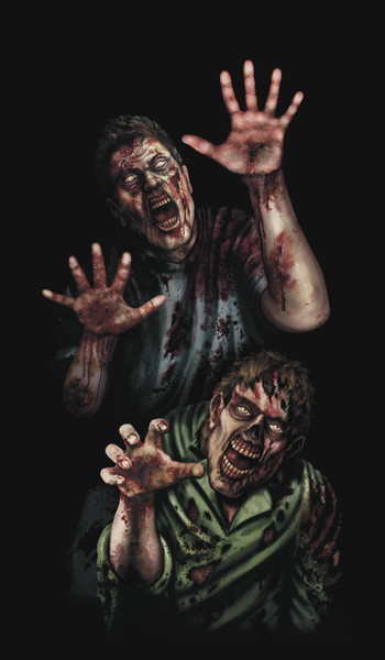 Zombies Halloween Window Poster Decorations