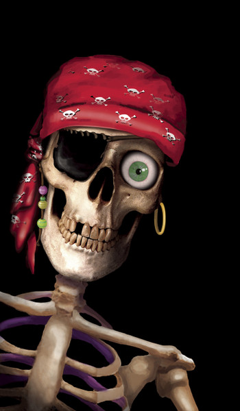 Peppy the Pirate Halloween Window Poster Decoration
