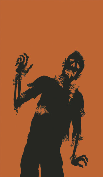 Zombie Silhouette Halloween Window Poster Decoration