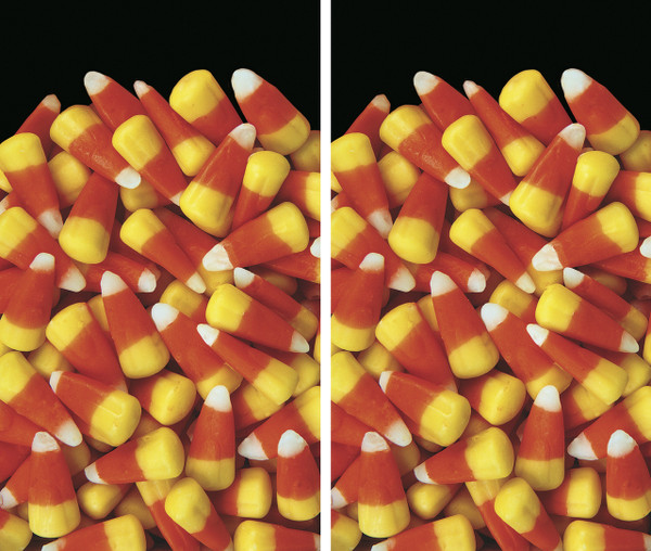 2 Candy Corn Halloween Window Poster Decorations