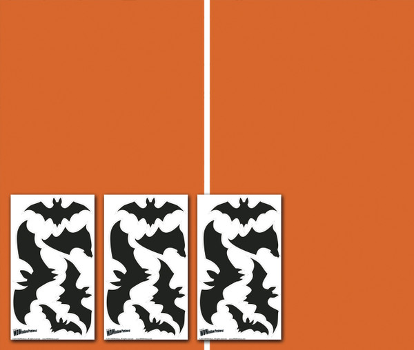 Make a Scene DIY Bats Halloween Window Poster Decorations with 3 sheets of bats stickers