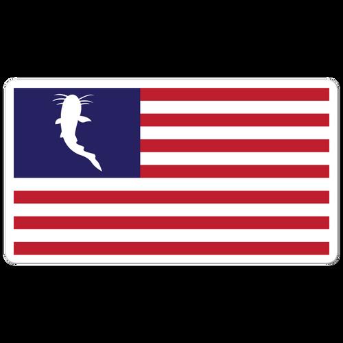 Katfish Flag Decal