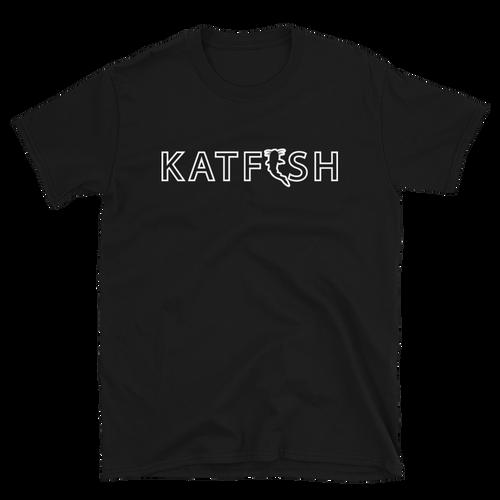 Katfish White Outline T-Shirt | Short-Sleeve