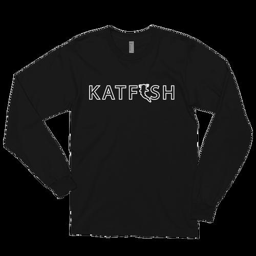 Katfish White Outline T-Shirt | Long sleeve t-shirt