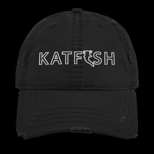 Katfish Outline Distressed Dad Hat