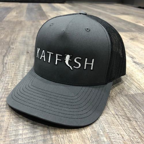 2020 KATFISH FLAT LOGO GREY/WHT Snapback