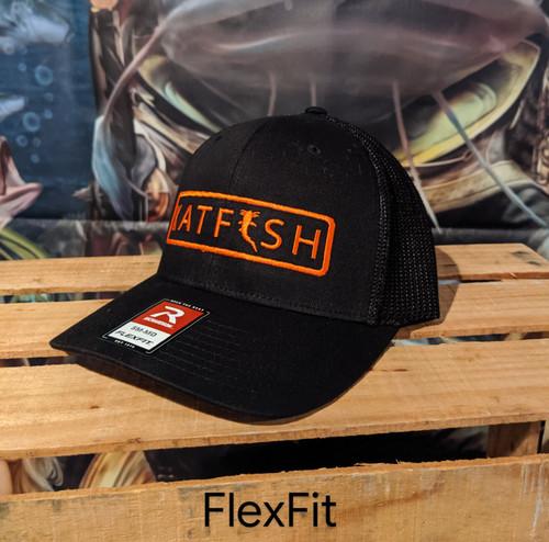 2020 FLEXFIT Trimmed BLK/ORANGE LOGO