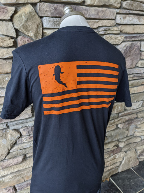 KATFISH Distressed Flag Black/Orange