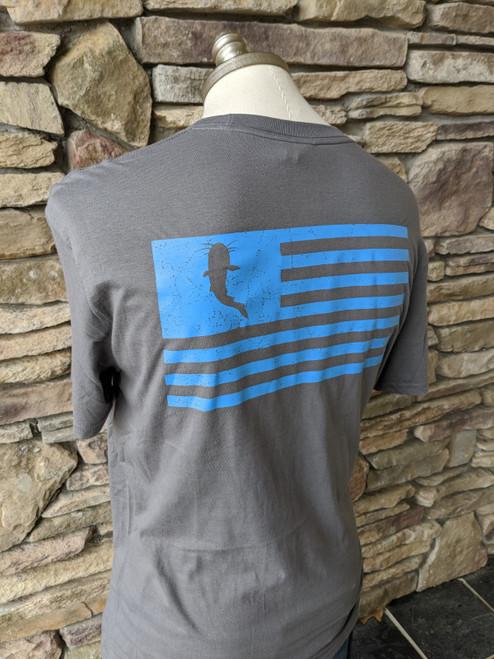 KATFISH Distressed Flag Grey/Blue