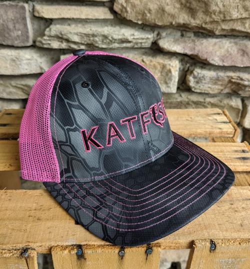 2020 KATFISH FLAT Logo Kryptek/Pink SNAPBACK