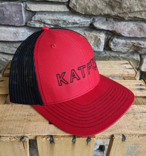 KATFISH FLAT Logo RED/BLK SNAPBACK