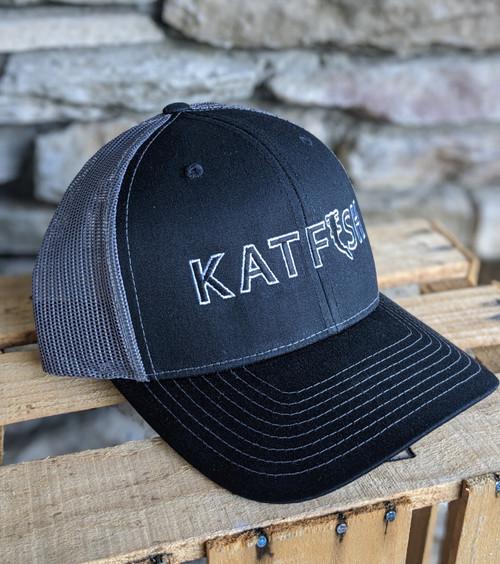 2020 KATFISH FLAT White Border CHAR/BLK SNAPBACK