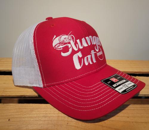 Slunger Cat Red/Wht SnapBack