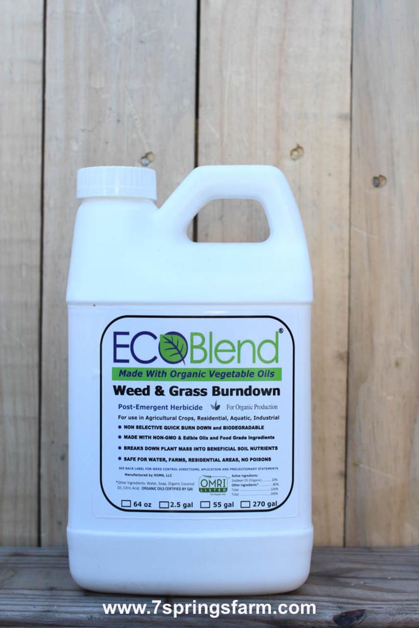 Ecoblend Organic Weed Grass Killer 64 Oz Bottle