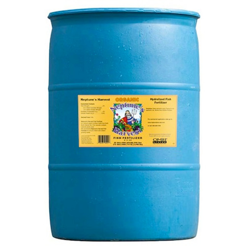 Neptune's Harvest Liquid Fish Fertilizer (2-4-0.5) 55 Gallon- Price $390.00, DROP SHIP