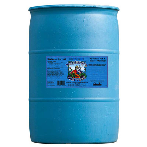 Neptune's Harvest Liquid Fish & Seaweed Fertilizer (2-3-0.5) 55 Gallon- Price $495.00 (Drop Ship)
