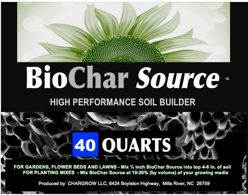 BioChar Source from CharGrow 40 Quart