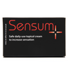 Sensum plus penile sensitivity topical cream box