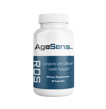 AgeSens Longevity and Cellular Health Support (30 Capsules) - Front Panel