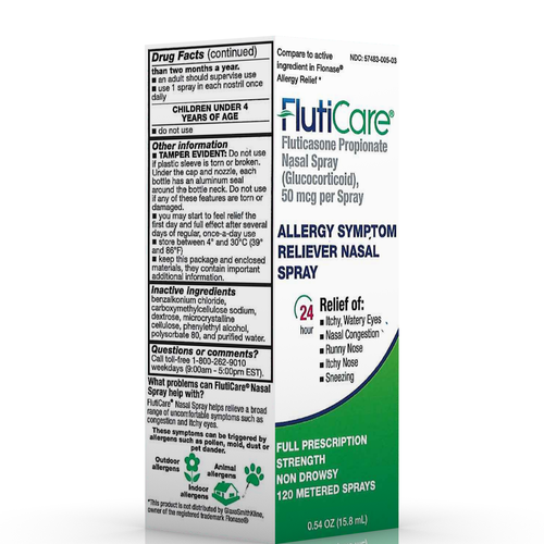 FlutiCare® 24-Hour Allergy Symptom Relief - 120 metered Nasal Spray (50mcg)