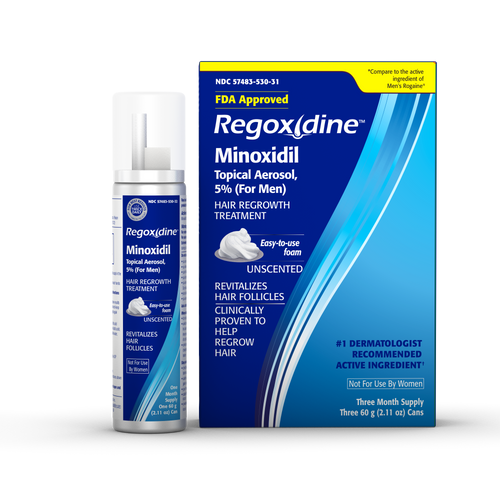 Regoxidine® Men's 5% Minoxidil Foam, 3-Month Supply, Hair Regrowth Treatment