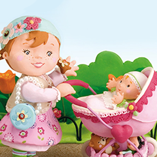 Little Girl: Molly Playing With Her Dolly