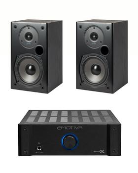 Sistema 2.0 Emotiva A-100 + Polk Audio T15 HiFi