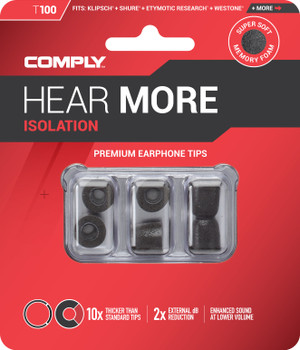 Comply Almohadillas de Espuma - Isolation T100 (S/M) - 03 Pares