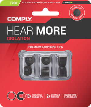 Comply Almohadillas de Espuma - Isolation T200 (S/M) - 03 Pares